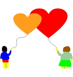 Love baloon hearts vector