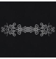 Chalk decorative design element vector image
