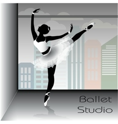 Ballet dancer silhouette vector