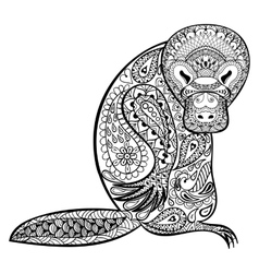 Zentangle australian platypus totem for adult anti vector