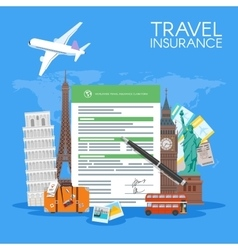 Travel insurance form concept vector
