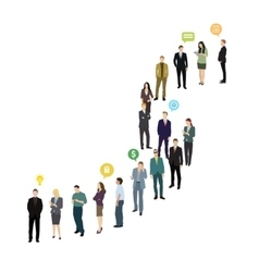 Group of business and office people standing in vector image