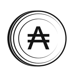 Austral icon simple style vector image