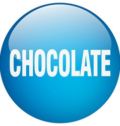 Chocolate blue round gel isolated push button vector