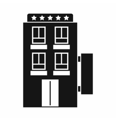 Five star hotel icon simple style vector