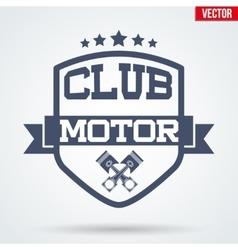 Motor club signs and label vector