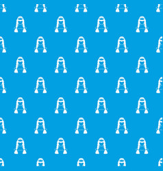 american indian pattern seamless blue vector image