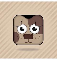 App icon dog vector