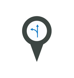 arrow location marker pin place point pointer icon vector image