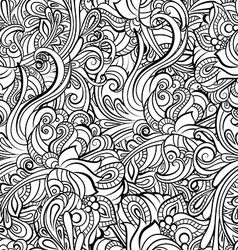 black and white seamless pattern in a zentangle vector image