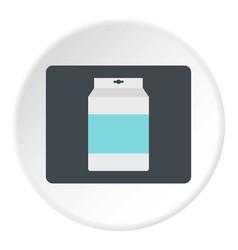Box of milk icon circle vector