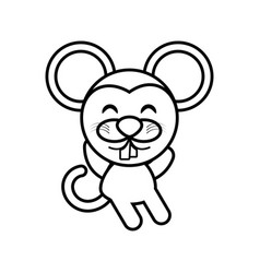 cartoon mouse animal outline vector image
