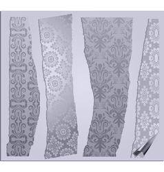 cracked wallpapers set vector image vector image