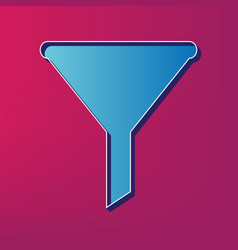 Filter simple sign blue 3d printed icon vector