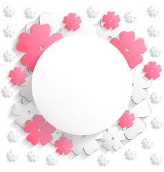 Flat flower round2 vector