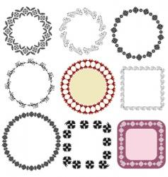 frame oriental arabesque vector image vector image