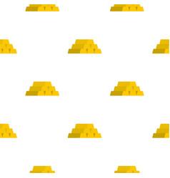 Gold bar pattern flat vector