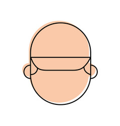 man face with cap cartoon repair character work vector image