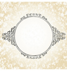 ornate oval frame vector image vector image