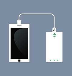 phone charging and power bank vector image