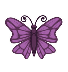 Purple colored small butterfly vector
