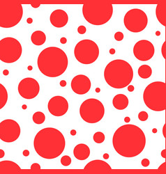 Red circles on white background seamless pattern vector