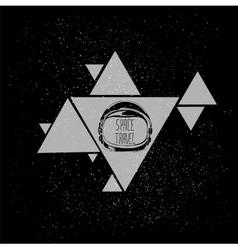 Space helmet triangle vector