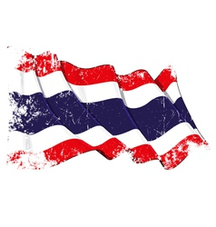 Thailand Flag Grunge vector image vector image