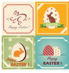 vintage easter cards set easter background in vector image