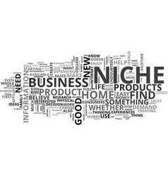 where to find your niche text word cloud concept vector image vector image