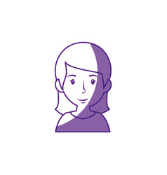 woman cartoon profile vector image