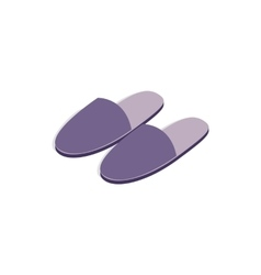 Pair of slippers icon isometric 3d style vector