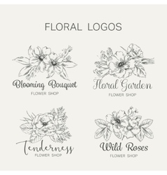Flower Logo Shop vector image