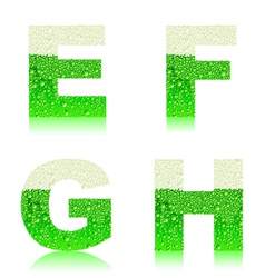 Alphabet green beer efgh vector