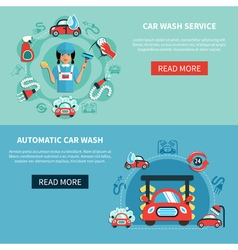 Car auto wash banners vector