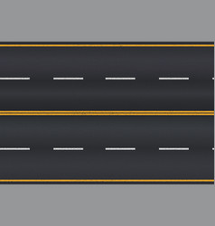 Asphalt road texture with white stripes vector