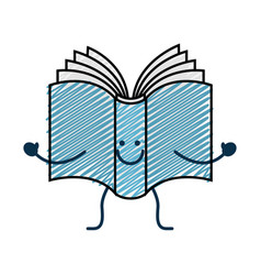 Happy book icon vector