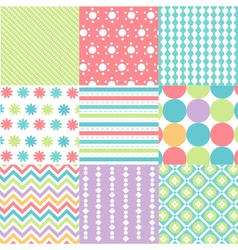 Patterns with fabric texture vector