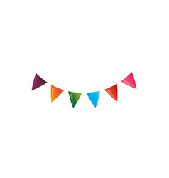 pennants party decoration vector image
