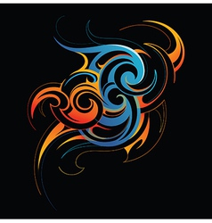 Fire and water fusion vector