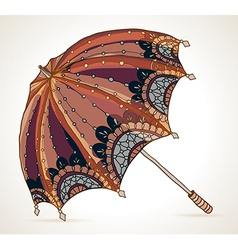 Beautiful brown umbrella vector
