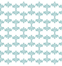 Seamless pattern with blue floral elements vector
