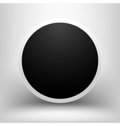 Black empty sphere with shadow vector
