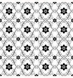 White black vintage seamless pattern vector