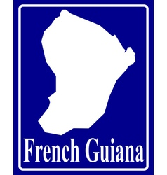 French guiana vector