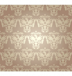 Retro damask wallpaper vector