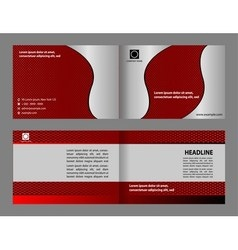 Red brochure template design cover layout vector