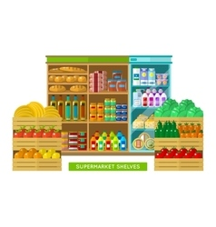 Shop supermarket interior vector