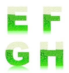 alphabet green beer EFGH vector image