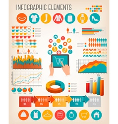 Big set of Shopping infographics elements vector image vector image